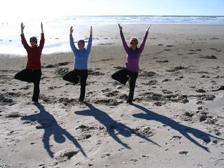 Yoga on the Beach (photo by Goddess Julia Hughes)